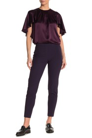 Elie Tahari Marcia Checked Cropped Pants