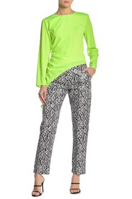 KENDALL AND KYLIE Snake Embossed Straight Leg Pant