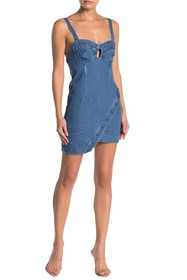 KENDALL AND KYLIE Sweetheart Denim Dress