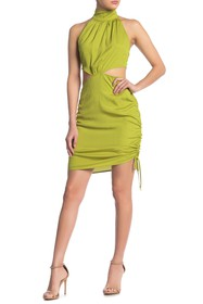KENDALL AND KYLIE Ruched Cutout Dress