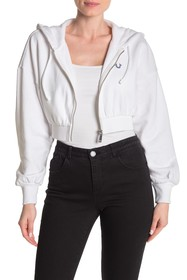 True Religion Love Is Universal Fleece Lined Crop