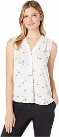 Vince Camuto Sleeveless Whimsical Petals V-Neck Bl
