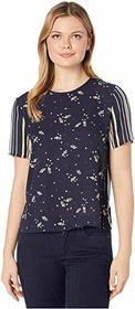Vince Camuto Short Sleeve Whimsical Petals Blouse