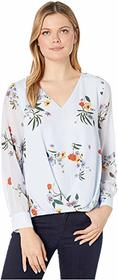 Vince Camuto Long Sleeve Surreal Garden Fold-Over