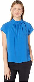 Vince Camuto Short Sleeve Extended Shoulder Shirre