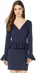 Nicole Miller Ponte Peplum Dress