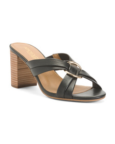 AEROSOLES Comfort Leather Cross Band Sandals