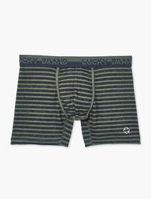 Lucky Brand Embroidered Clover Stripe