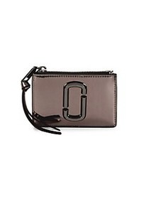Marc Jacobs Top Zip Faux Leather Coin Purse NICKEL