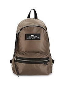 Marc Jacobs Large Zip-Around Backpack CEMENT