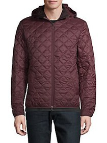 Barbour Quilted Hooded Jacket AUBERGINE