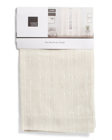DESIGN DECOR 38x96 Set Of 2 Muskoka Linen Look Cur