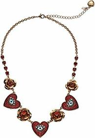Betsey Johnson Heart Frontal Necklace