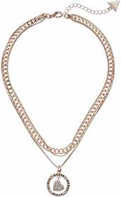 GUESS 3 Row Heart and Logo Necklace