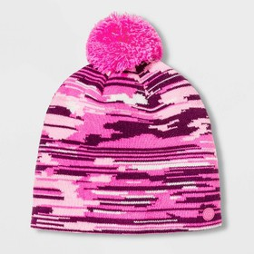 Girls' Pattern Knit Beanie with Pom - C9 Champ
