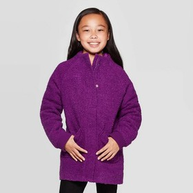 Girls' Boucle Jacket - Cat & Jack™ Purple