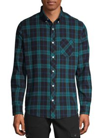 One Day Away Men's Long Sleeve Brushed Flannel Shi