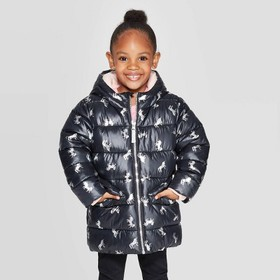 Toddler Girls' Unicorn Puffer Jacket - Cat & Jack&