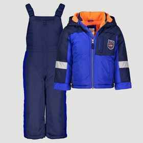 Toddler Boys' Colorblock Snowsuit with Bib - Just