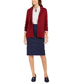 Sweater Blazer & Ponte Skirt, Created for Macy's