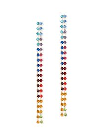 Double-Row Linear Drop Earring - New York & Compan