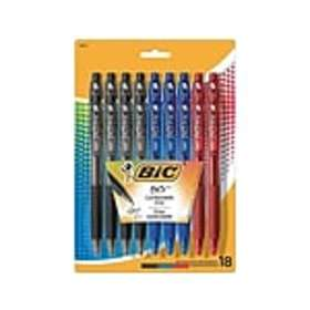 BIC BU3 Retractable Ballpoint Pens, Medium Point,