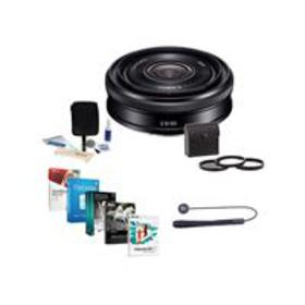 Sony 20mm F2.8 Alpha E-Mount Lens, Black with Free