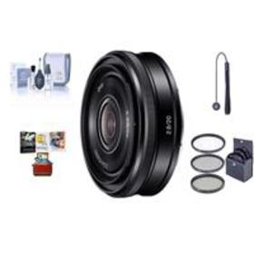 Sony 20mm F2.8 E-Mount Lens, Black with Free Mac A