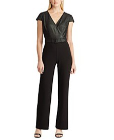 Belted Straight-Leg Jumpsuit