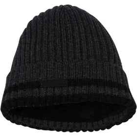 Rainforest Striped Ribbed Cuff Beanie (For Men) in