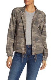 Sanctuary Camo Drawstring Hem Jacket (Regular & Pe
