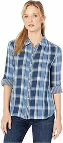 Vince Camuto Roll Tab Double-Face Plaid One-Pocket