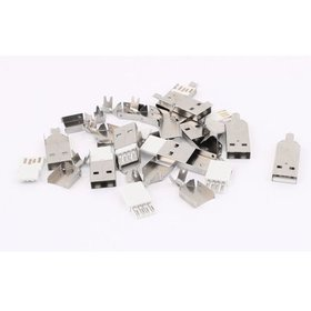10PCS Soldering USB Type A Male Plug Connector w M