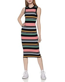 BCBGENERATION - Striped Sleeveless Sweater Dress