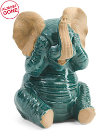 THREE HANDS Ceramic Elephant