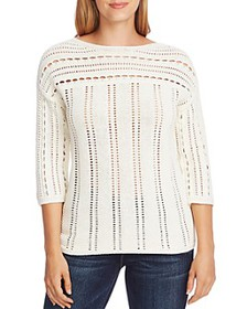 VINCE CAMUTO - Boat-Neck Open-Stitch Sweater