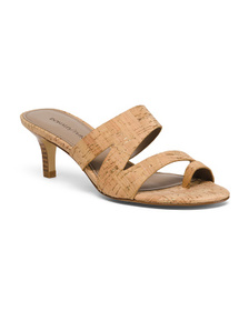 Reveal Designer Cork Slide Sandals