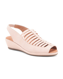 GENTLE SOULS All Day Comfort Slingback Peep Toe Le