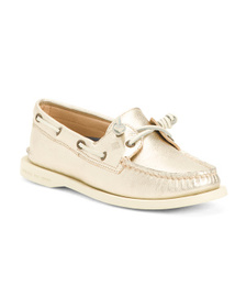 SPERRY Metallic Leather Boat Shoes