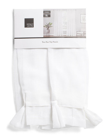 DESIGN DECOR 38x96 Set Of 2 Belgian Linen Look Cur