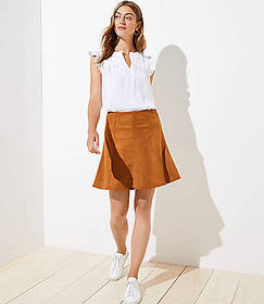 Tall Faux Suede Flippy Skirt