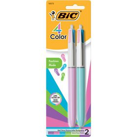 BIC 4-Color Fashion Ball Pen, Medium Point (1.0 mm
