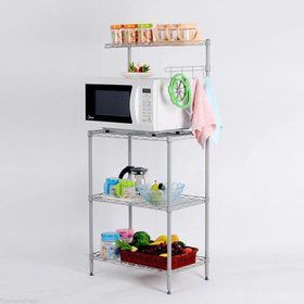 Zimtown 4-Tier Bakers Rack Storage Rack Microwave