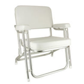 Springfield Classic Folding Deck Chair, White $199