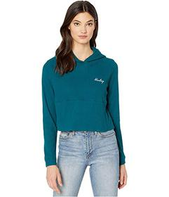 Hurley Chill Ribbed Fleece Crop Pullover