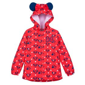 Disney Minnie Mouse Red Packable Rain Jacket and A