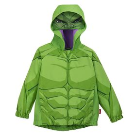 Disney Hulk Packable Rain Jacket and Attached Carr
