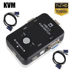 TSV 2-Port USB KVM Switch and Cable Kit - Manage 2