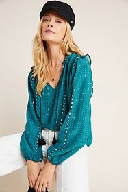 Anthropologie DOLAN Collection Lucille Embroidered