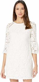 Vince Camuto Lace Shift Dress w/ Trim Detail